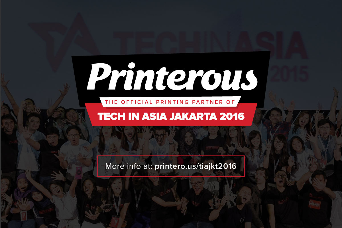 Printerous as Tech in Asia Jakarta 2016 Official Printing Partner